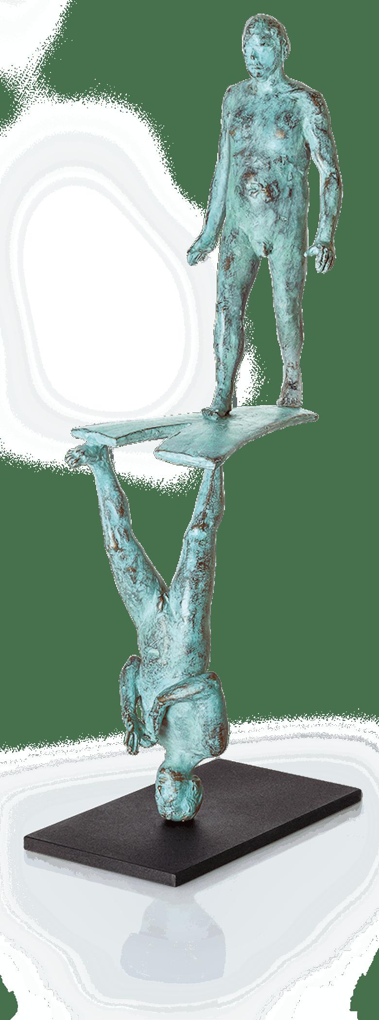 Bronzefigur Richtung ändern von Adelbert Heil