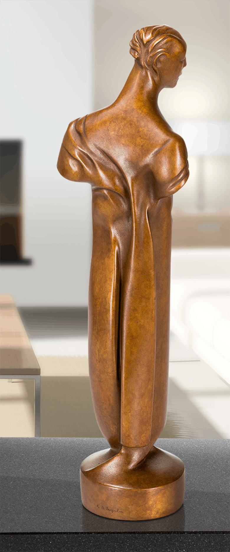 Bronzefigur Jüngling im Wind von Giovanni de Angelis