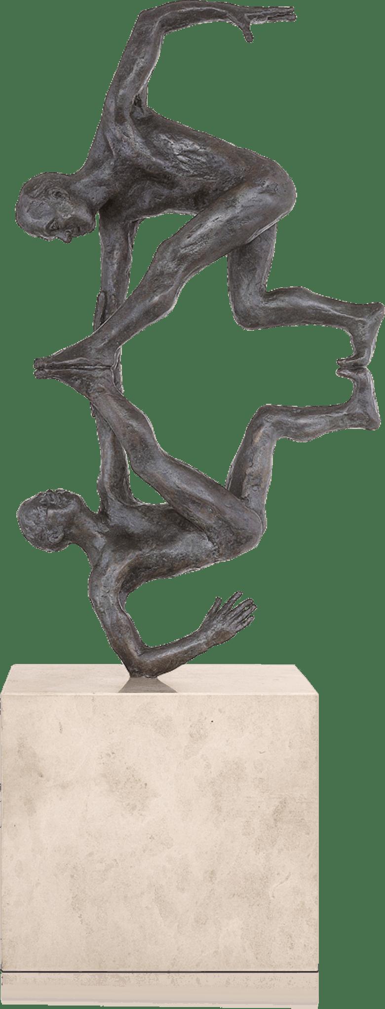 Bronzefigur Engelgriff von Adelbert Heil